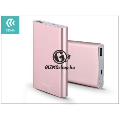 Univerzális hordozható, asztali akkumulátor töltő – Devia King Kong QC 2.0 Power Bank – 8000 mAh – rose gold