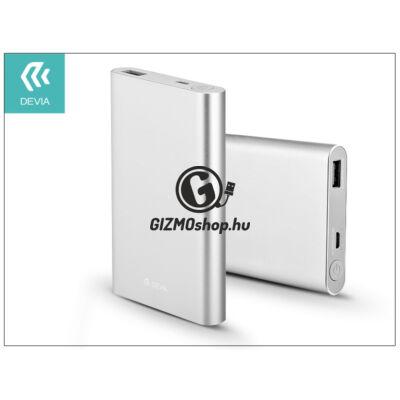 Univerzális hordozható, asztali akkumulátor töltő – Devia King Kong QC 2.0 Power Bank – 8000 mAh – silver