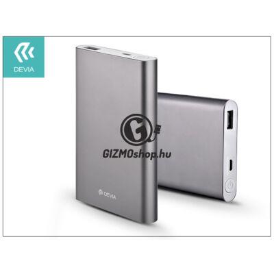 Univerzális hordozható, asztali akkumulátor töltő – Devia King Kong QC 2.0 Power Bank – 8000 mAh – grey