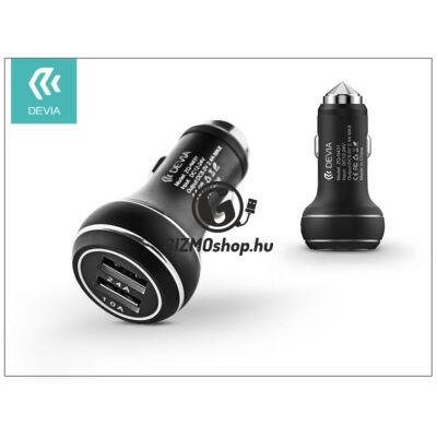 Devia Thor Dual USB szivargyújtós töltő adapter – 5V/2,4A – black