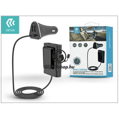 Devia szivargyújtó töltő adapter – Devia iBox Carhub 4xUSB – 5V/6,8A – black