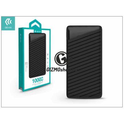 Univerzális hordozható, asztali akkumulátor töltő – Devia Elegant J1 2xUSB 2.4A Power Bank – 10.000 mAh – black