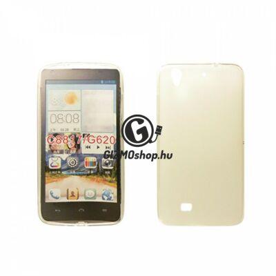 Huawei Y5 vékony szilikon hátlap, Átlátszó