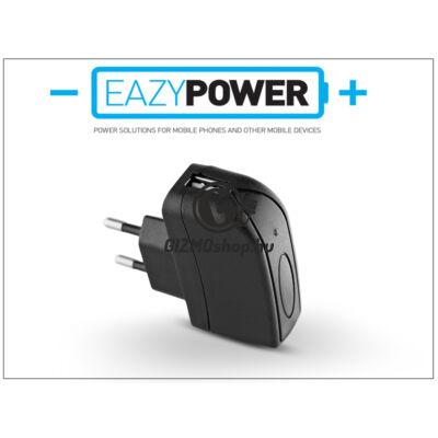 Univerzális USB hálózati töltő adapter – Eazy Power – 5V/1A – fekete – (ECO csomagolás)