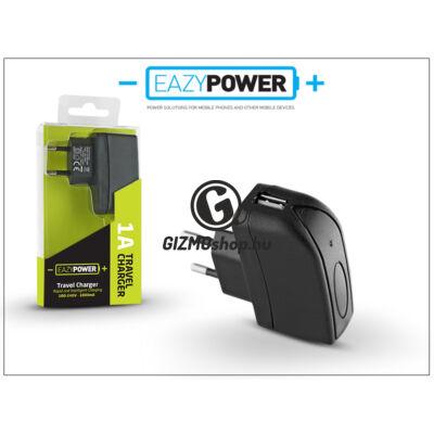 Univerzális USB hálózati töltő adapter – Eazy Power – 5V/1A – fekete