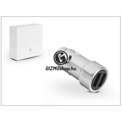 Xiaomi gyári 2xUSB szivargyújtós töltő adapter – 5V/3,6A – CZCDQ01ZM – silver