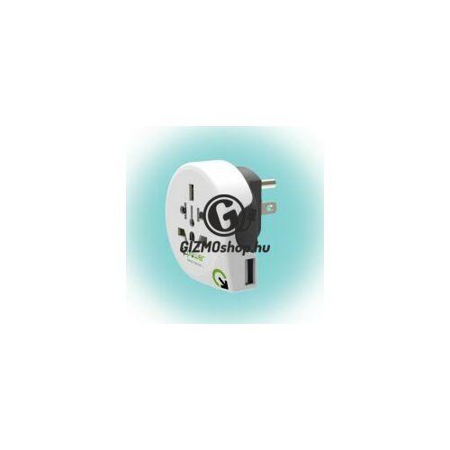 "Utazóadapter ""World to USA USB"""