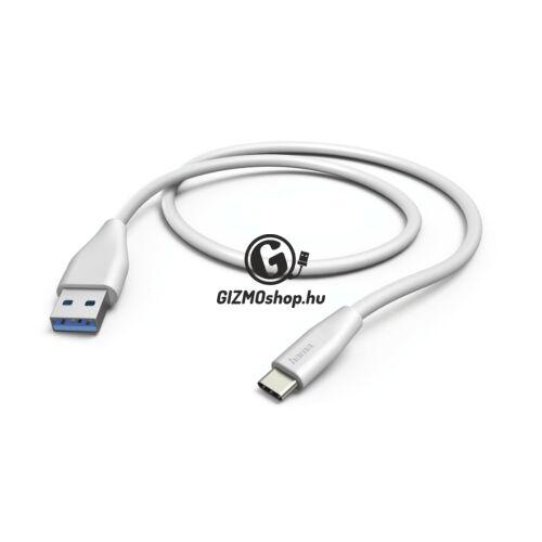 ADATKÁBEL USB 3.1, TYPE-C/USB A, 1,5M, FEHÉR