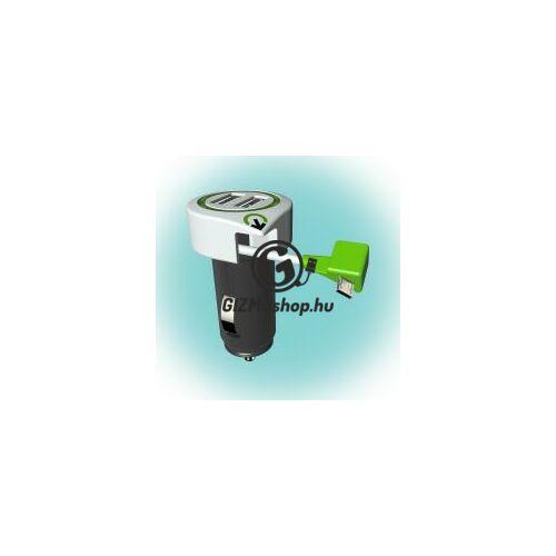 "Autós USB töltő ""Triple USB Car Charger Micro USB Connector"""