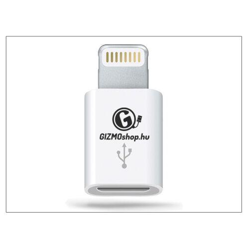 Apple iPhone 5/5S/5C/SE/iPad 4/iPad Mini eredeti, gyári Lightning – micro USB adapter – MD820ZM/A (csomagolás nélküli)