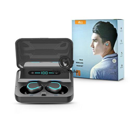 Extreme TWS Bluetooth sztereó headset v5.1 + töltőtok – Extreme F9–5 True Wireless Headset with Charging Case – fekete
