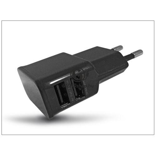 Univerzális 2xUSB hálózati töltő adapter – 5V/2A – ETA-U90EBEG black utángyártott
