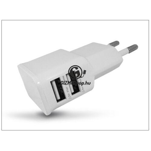 Univerzális 2xUSB hálózati töltő adapter – 5V/2A – ETA-U90EWEG white utángyártott