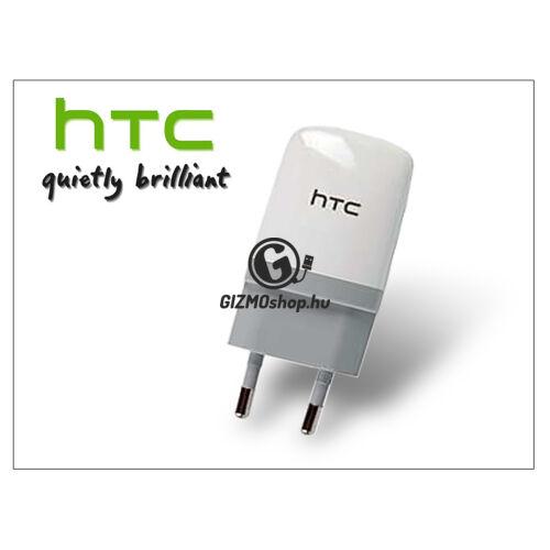 HTC gyári USB hálózati töltő adapter – 5V/1A – TC E250 white (csomagolás nélküli)