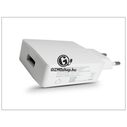 Huawei gyári USB hálózati töltő adapter – 5V/2A – HW-050200Z3W white (csomagolás nélküli)