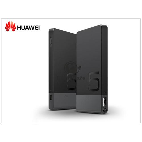 Univerzális hordozható, asztali akkumulátor töltő USB – micro USB csatlakozóval – Huawei AP006L PowerBank – 5.000 mAh – black/grey