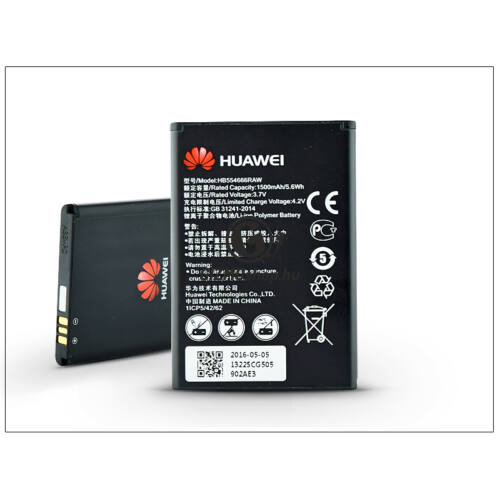 Huawei E5330/E5336/E5377 gyári akkumulátor – Li-ion 1500 mAh – HB554666RAW (csomagolás nélküli)