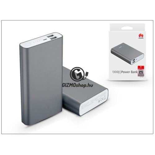 Univerzális hordozható, asztali akkumulátor töltő USB – Huawei AP007 2XUSB PowerBank – 13.000 mAh – black