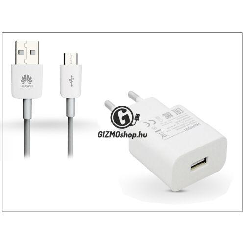 Huawei gyári USB hálózati töltő adapter + micro USB adatkábel – 5V/2A és 9V/2A – Quick Charge HW-059200EHQ white (ECO csomagolás)