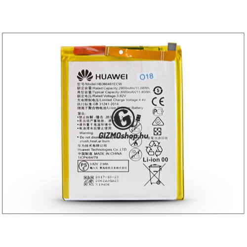 Huawei P9 gyári akkumulátor – Li-polymer 3000 mAh – HB366481ECW (ECO csomagolás)