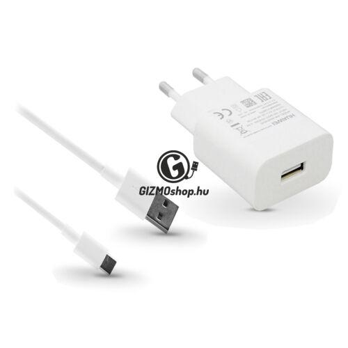 Huawei gyári USB hálózati töltő adapter + Type-C adatkábel – 5V/2A és 9V/2A – Quick Charge AP32 HW-059200EHQ + AP51 white