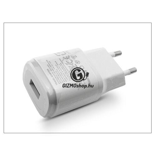 LG gyári USB hálózati töltő adapter – 5V/1,8A – MCS-04ER white (csomagolás nélküli)
