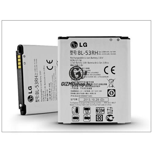 LG E975w Optimus GJ gyári akkumulátor – Li-ion 2280 mAh – BL-53RH (csomagolás nélküli)