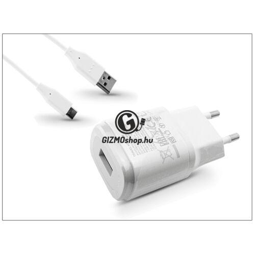 LG gyári USB hálózati töltő adapter + USB Type-C kábel – 5V/1,8A – MCS-04ER + EAD63849201/203/204 Type-C 2.0 – white (ECO csomagolás)