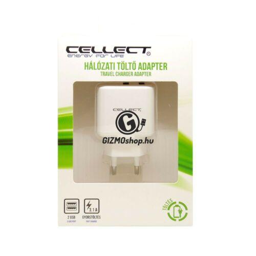 2.Hálózati töltő adapter 2 USB csatalkozóval, 3.1A