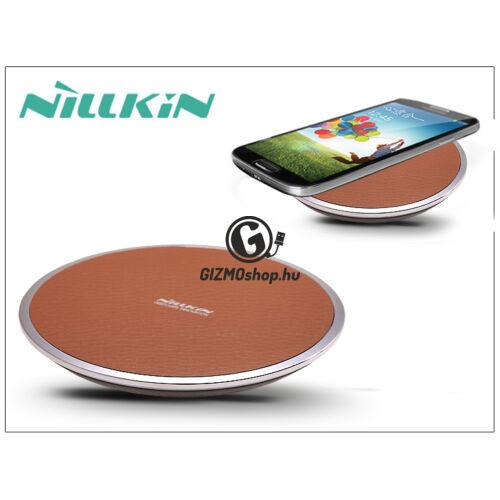 Nillkin Qi univerzális vezeték nélküli töltő állomás 2A – Nillkin Magic Disk III Wireless Fast Charger – barna – Qi szabványos