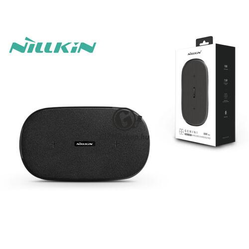 Nillkin Qi univerzális vezeték nélküli töltő állomás 5V/2A – Nillkin Gemini Dual Fast Wireless Charging – fekete – Qi szabványos