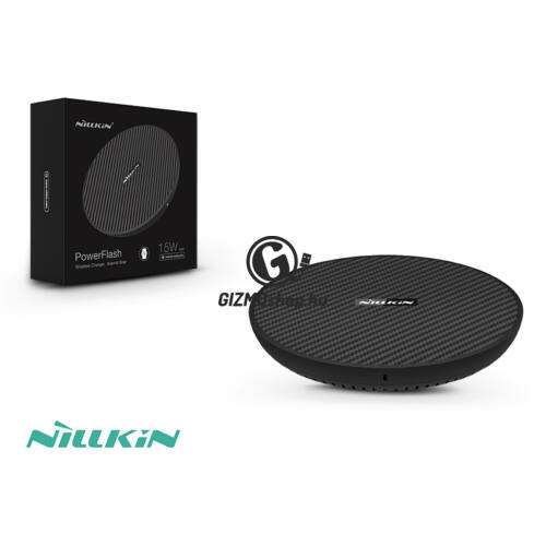 Nillkin Qi univerzális vezeték nélküli töltő állomás 5V/2A – Nillkin PowerFlash Wireless Charging (Aramid Fiber) – fekete – Qi szabványos