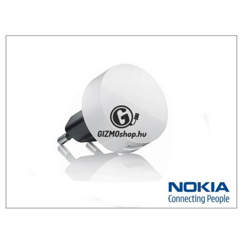Nokia 6500 classic/7900 prism/8600 Luna/8800 arte gyári USB hálózati töltő adapter – 5V/1A – AC-16E – white (csomagolás nélküli)