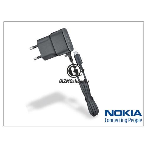 Nokia 6500 classic/7900 prism/8600 Luna/8800 arte gyári micro USB hálózati töltő – 5V/0,75A – AC-20E – black (csomagolás nélküli)