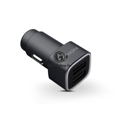 Nokia 2x USB gyári szivargyújtós töltő adapter – 5V/3,4A – DC-301 – black