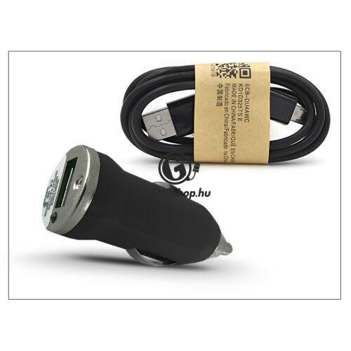 Univerzális USB szivargyújtó töltő adapter + micro USB adatkábel – 5V/1A – fekete