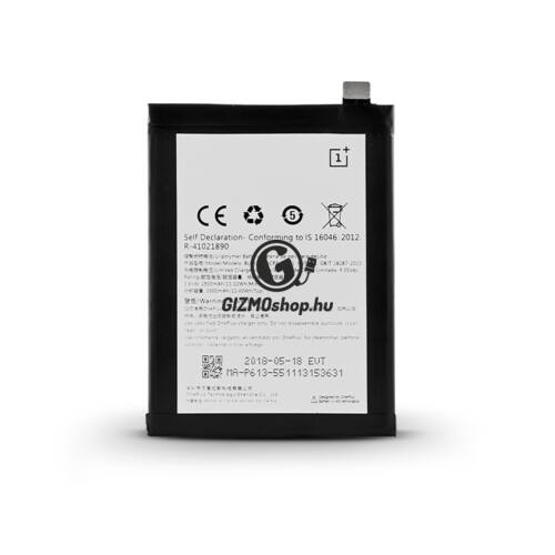 OnePlus 3 (A3000) gyári akkumulátor – Li-polymer 3000 mAh – BLP613 (ECO csomagolás)