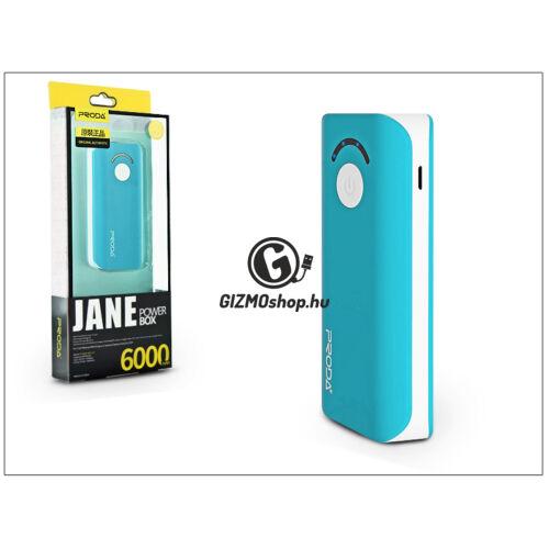Univerzális hordozható, asztali akkumulátor töltő – Proda Jane Power Bank – 6000 mAh – kék/fehér