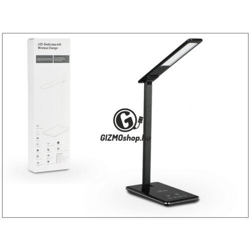 Qi univerzális vezeték nélküli töltő állomás/LED asztali lámpa – 1A – Qi szabványos