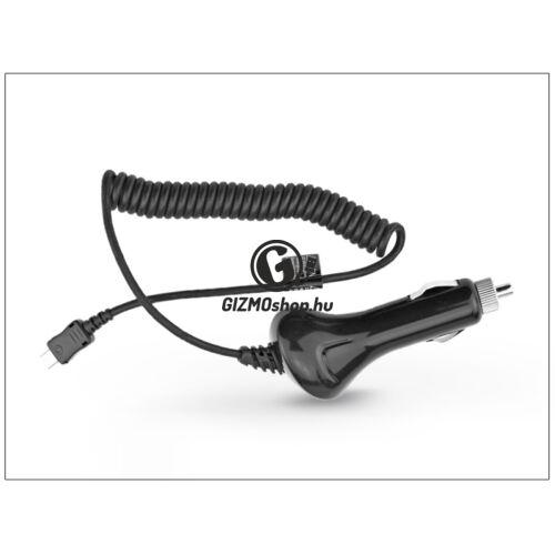USB Type-C szivargyújtós gyorstöltő spirál kábellel – 5V/2A – fekete