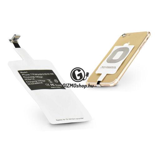 Lightning Qi adapter vezeték nélküli töltő állomáshoz – fehér