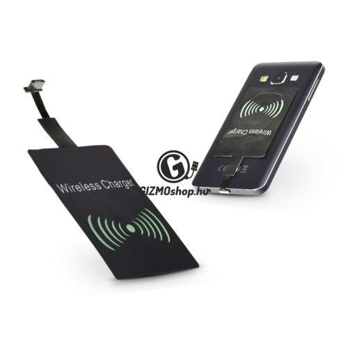 Micro USB Qi adapter vezeték nélküli töltő állomáshoz – Type-B – fekete