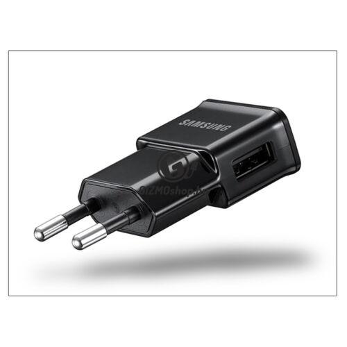 Samsung gyári USB hálózati töltő adapter – 5V/1A – ETA0U81EBE/ETA0U80EBE black (ECO csomagolás)