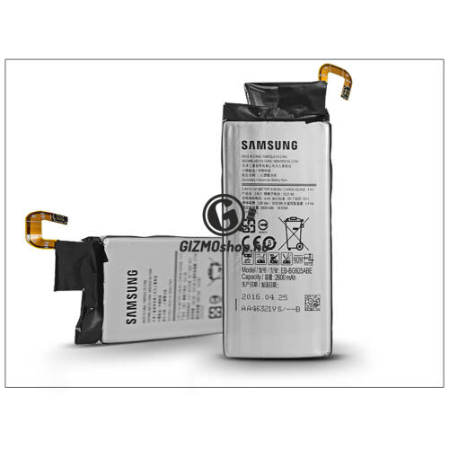 Samsung SM-G925F Galaxy S6 Edge gyári akkumulátor – Li-Ion 2600 mAh – EB-BG925ABE (csomagolás nélküli)