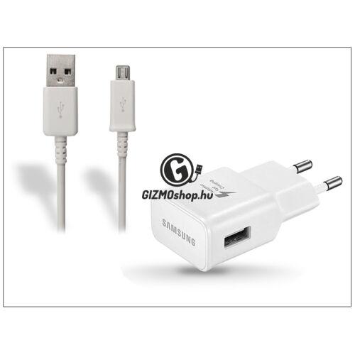 Samsung gyári USB hálózati töltő adapter + micro USB adatkábel – 5V/2A – EP-TA20EWE + ECB-DU4AWE/EWE white (csomagolás nélküli)