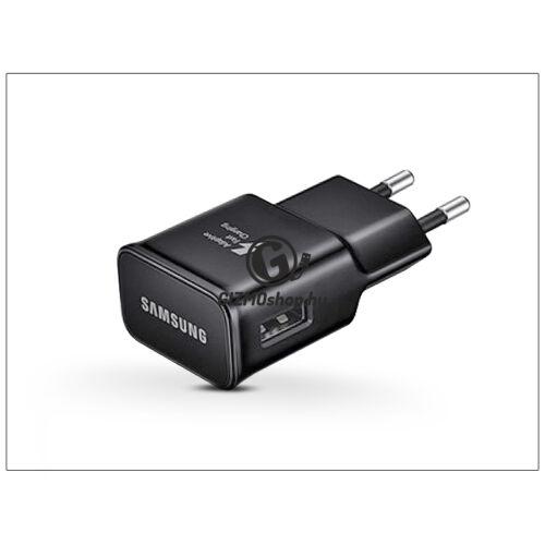 Samsung gyári USB hálózati töltő adapter – 5V/2A – EP-TA20EBE black – Adaptive Fast Charging (ECO csomagolás)