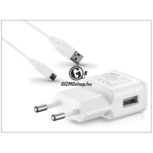 Samsung gyári USB hálózati töltő adapter + USB Type-C adatkábel – 5V/2A – ETA-U90EWEG + Type-C 2.0 white (ECO csomaglás)