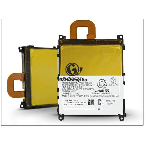 Sony Xperia Z1 (C6903) gyári akkumulátor – Li-Polymer 3000 mAh – LIS1525ERPC/AGPB011-A001 (csomagolás nélküli)