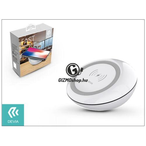 Devia Qi univerzális vezeték nélküli töltő állomás – 5V/2A – Devia Fast Wireless Charger – white – Qi szabványos
