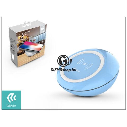 Devia Qi univerzális vezeték nélküli töltő állomás – 5V/2A – Devia Fast Wireless Charger – blue – Qi szabványos